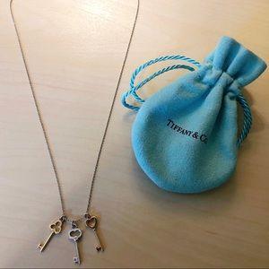 Tiffany & Co 18k Gold Key Pendant Necklace